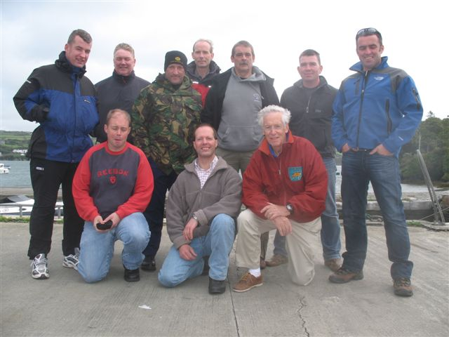Lusitania team with the wrecks owner Greg Beamis